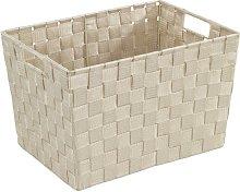 Mendosa Plastic Basket Rebrilliant Colour: Beige