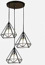 MENG Modern Diamond Light, Fabric Shade Black