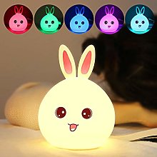 Meng Rabbit Silicone Lamp Children's Bedroom