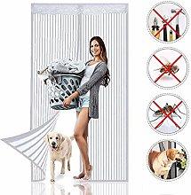 MENGH Magnetic Screen Door Curtain 160x215cm, Mesh