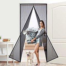 MENGH Screen Doors 210x200cm, Mesh Curtain,