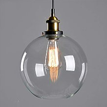 Mengjay Glass Pendant Light Vintage Industrial