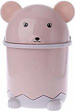 Mengmengda Mini Bear Waste Bin Desktop Garbage