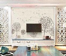 MENGRU Wallpaper 3D Mural Abstract Dandelion 3D