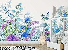MENGRU Wallpaper 3D Mural Colorful Flower 3D