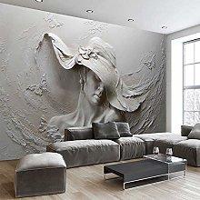 MENGRU Wallpaper 3D Mural Elegant Woman 3D Murals