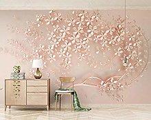 MENGRU Wallpaper 3D Mural Flower Petals 3D Murals