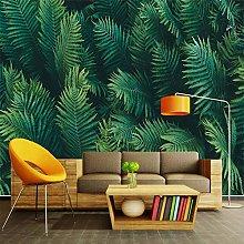 MENGRU Wallpaper 3D Mural Green Leaves 3D Murals