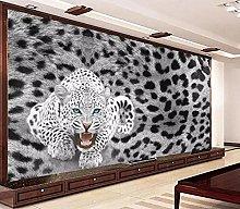 MENGRU Wallpaper 3D Mural Leopard Leopard Cheetah