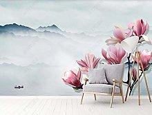 MENGRU Wallpaper 3D Mural Magnolia Landscape 3D