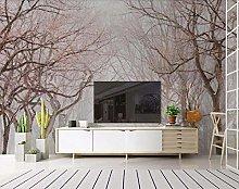 MENGRU Wallpaper 3D Mural Nordic Wood 3D Murals