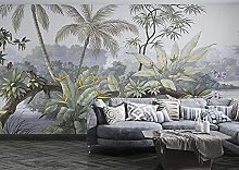 MENGRU Wallpaper 3D Mural Tropical Jungle 3D