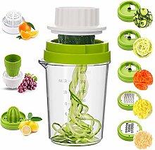 MENNYO Vegetable Spiralizer 8 in 1, Spiraliser