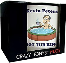 Mens Personalised Hot Tub Mug Husbands Birthday