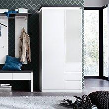 Mentis Hallway Wardrobe In Matt White And Concrete