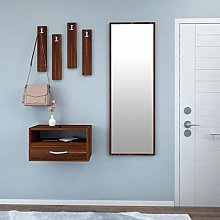 Menton cabinet with 4 hooks, 1 open shelf, 1