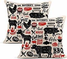 Meowjoy Sheep Set 2 Cushion Covers Print Linen