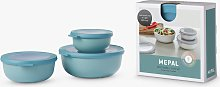 Mepal Cirqula Food Storage Bowls, Set of 3, Nordic