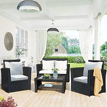 Merax - 4 Seater Garden Rattan Furniture Sofa