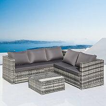 Merax - Garden Corner Sofa rattan Garden Furniture
