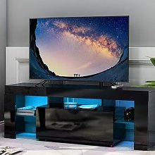 Merax - Modern Tv cabinet in Black Living Room