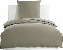 Mercatoxl - Bedding Set 100% cotton, taupe + gray