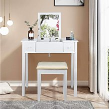 Mercatoxl - Dressing table white with folding