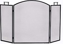 MERCB 3-Panel Fireplace Screen with Handle,