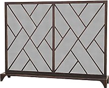 MERCB Red Copper Single Panel Fireplace Screen,