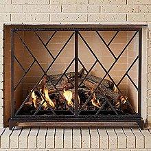 MERCB Single Panel Fireplace Screen Flat Guard,