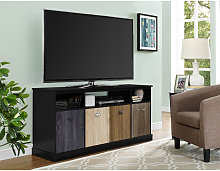 Mercer Black TV Cabinet Console Unit For TVs Up To