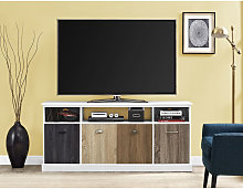 Mercer White TV Cabinet Console Unit For TVs Up To