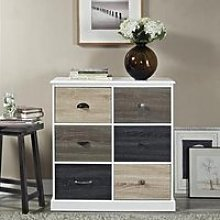Mercer Wooden Storage Cabinet In White With 6 Doors
