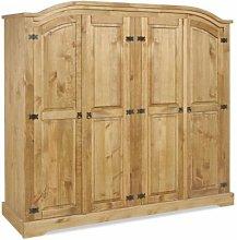 Mercers Furniture Corona 4 Door Arch Top Wardrobe