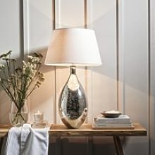 Mercury Large Table Lamp, Silver, One Size