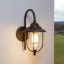 Meret Outside Wall Light Rust-Coloured