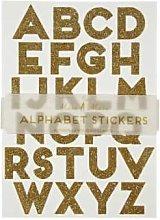 Meri Meri - 10 Gold Glitter Alphabet Sticker Sheets