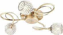 Merida Decorative 3 Way Spiral Antique Brass Semi