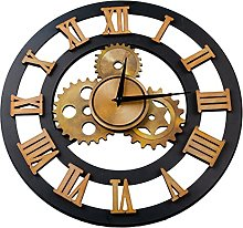 MERIGLARE Large Cogs Gears Novelty Wall Clock with