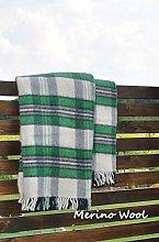 Merino Wool SALE ! 100% ENGLISH TEA Sofa Picnic