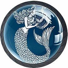Mermaid Crystal Drawer Handles Furniture Glass