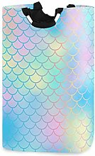Mermaid Fish Scale Texture Laundry Hamper Basket
