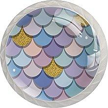 Mermaid Fish Scales, Modern Minimalist Printing