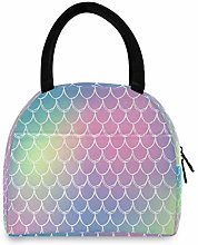 Mermaid Scale Rainbow Lunch Bag Insulated Lunch