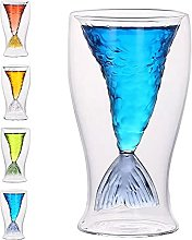 Mermaid Shot Glass, Mermaid Wine Glass, Mermaid