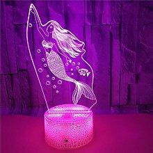 Mermaid Visual Atmosphere Decor Lamp, 7 Colors