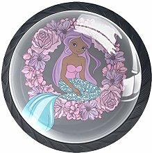 Mermaid Wreath Gray N3 4 Pieces Crystal Glass