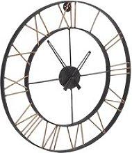 Merope Large Metal Lincoln Wall Clock