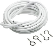 Merriway BH03842 Plastic Coated Curtain Wire with
