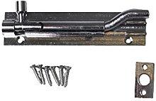 Merriway® BH00771 Antique Cranked Swan Neck Surface Slide Door Bolt 100 mm 4